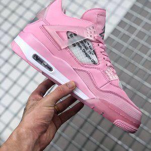 OFF-WHITE x Air Jordan 4SpWMNS Cherry Blossom Pink